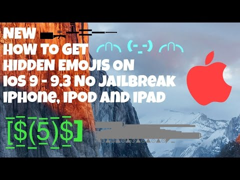 How To Get Hidden Emojis On iOS 9 - 9.3 / NO Jailbreak - iPhone, iPod & iPad