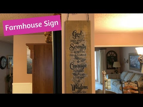 Dollar Tree Walmart Farmhouse Sign DIY Easy