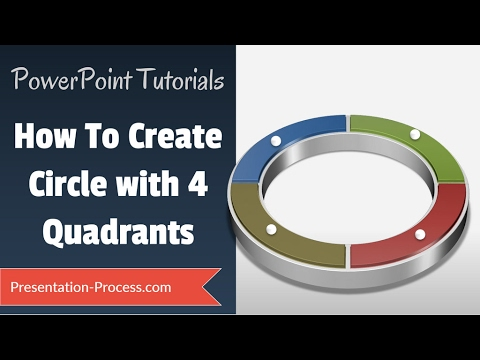 How to Create 4 Quadrant Circle: PowerPoint Diagram Tutorial Series