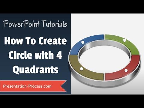 How to Create 4 Quadrant Circle: PowerPoint Diagram Tutorial Series