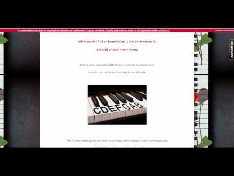 Learn How to Play Keyboard -- An Introduction to the Keyboard and Piano