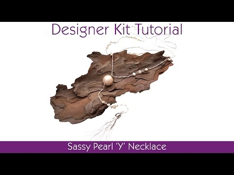 Sassy Pearl 'Y' Necklace Tutorial