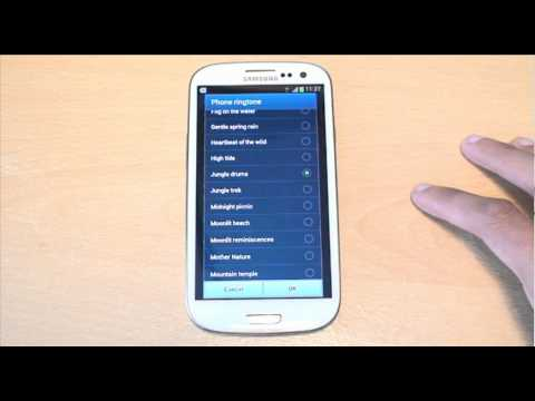 Standard Default Ringtones on Samsung Galaxy S3 Out of the Box