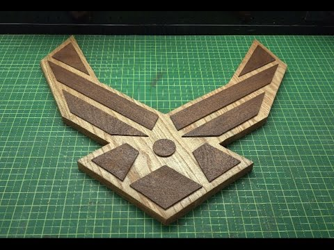 Create the Airforce Logo for shadow box or stand alone