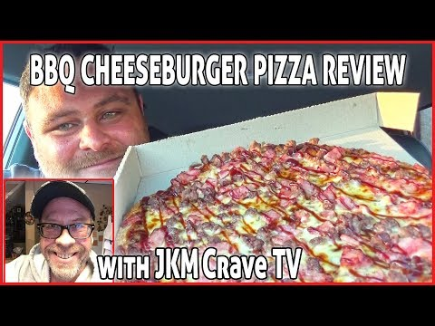 Pizza Hut BBQ Cheeseburger Pizza Review with JKMCRAVE TV. AUS Vs  USA