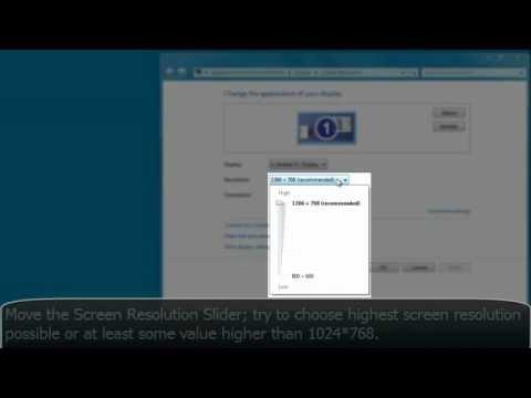 How to Change Reolution on WIndows 7 / Windows Vista