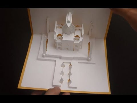 Pop Up Taj Mahal Pop-up Paper Tutorial, The Symbol of Love - Origamic Architecture