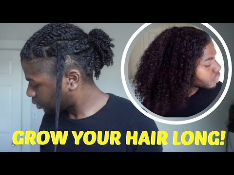 HOW TO: GROW LONG, HEALTHY NATURAL HAIR | Men's Natural Hair Care