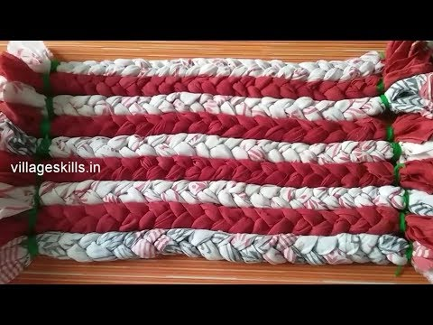 Old clothes recycling ideas for door mat,how to make braided rag rugs,eco friendly carpets,mat #14