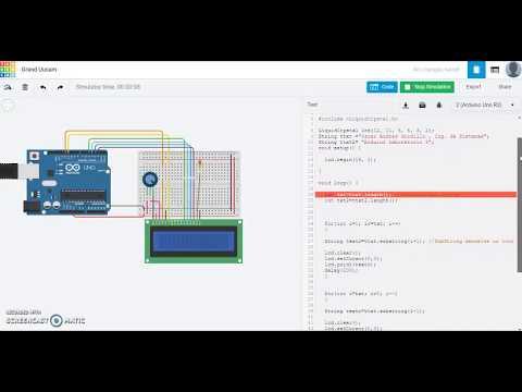 Arduino Laboratorio 3  Simulación Aviso en movimiento  LCD