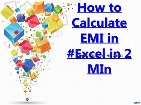 How to Calculate EMI in #Excel in 2 MIn.