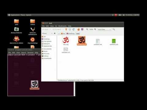 GEDA PCB Designer - How To Make A Custom Silk Screen Image
