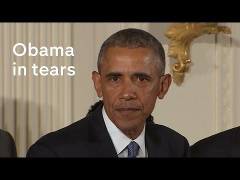 President Obama breaks down over gun control (full speech)