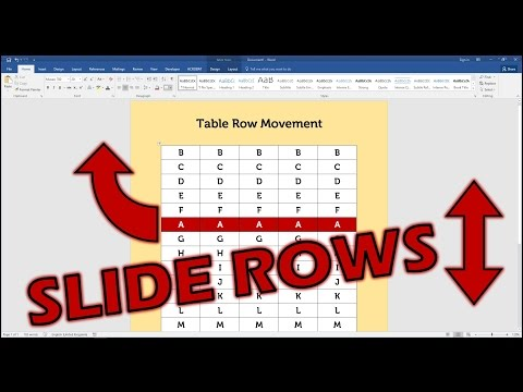 Move Rows Up Or Down In A Microsoft Word Table