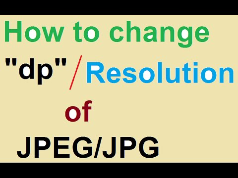 How to change the resolution in dp of JPEG file exported from MS Power Point