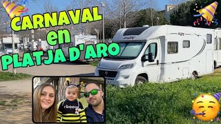 CARNAVAL 🎉  en PLATJA D'ARO con Autocaravana