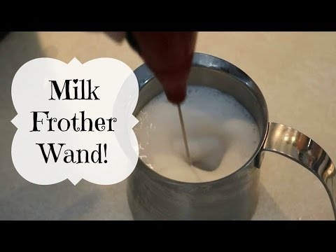 HOW TO FROTH MILK with a FROTHING WAND