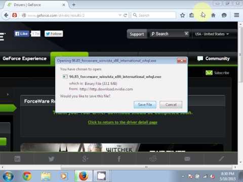 Baixar e instalar driver gefoce fx 5200 para windows 7 youtube.