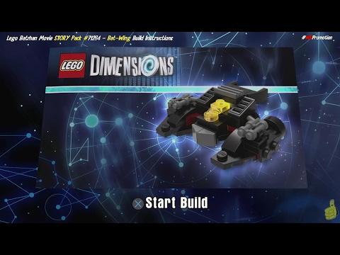 Lego Dimensions: Bat-Wing / Build Instructions (Lego Batman Movie STORY Pack #71264) - HTG