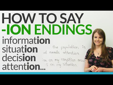 Speak English: How to say words that end with -ION