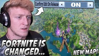 Tfue FREAKS OUT After Playing His FIRST Game On The NEW Fortnite Map! (New Editing / Boats!)