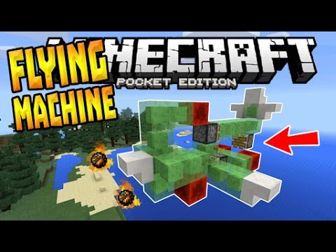 How To Make A Working Plane In MINECRAFT PE (Pocket Edition)
