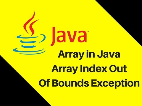 6.7 Array in Java Tutorial With Example ArrayIndexOutOfBoundsException