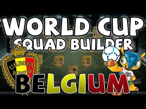 FIFA 14 Ultimate Team - BELGIUM WORLD CUP SQUAD