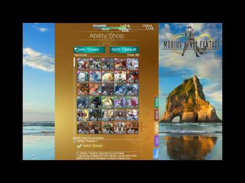 Mobius Final Fantasy 3 BEST cards to buy  ABILITY SHOP