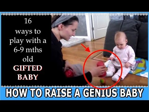How to raise a genius baby? Seven 7 month old infant painting playing piano reading talking