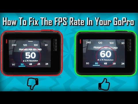 24 Instead 30? | 50 Instead 60? | How To Fix The FPS Rate In Your GoPro!