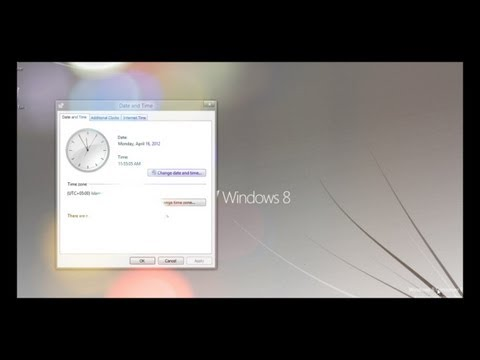 How to Change Time Display in Windows 8