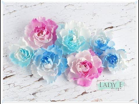 Foamiran Flowers Tutorial with Lady E Design Die - Flower 001