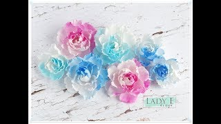Lindy S Magical Shakers Silk Foamiran Flowers Tutorial Diy