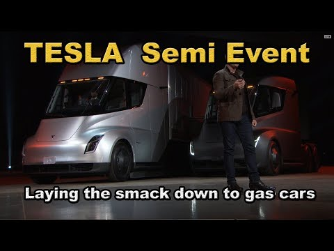 TESLA SEMI EVENT Heads up - you gotta see it!