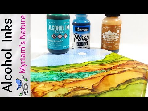 36]  ALCOHOL INK : Getting Started - INFO - DEMOS - How to Buy (Selecting Alcohol Inks)