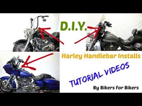 Install Aftermarket Handlebar or Ape Hangers on Harley Davidson