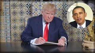 Trump Executes His Secret Plan To End All Of Obamas Executive Orders