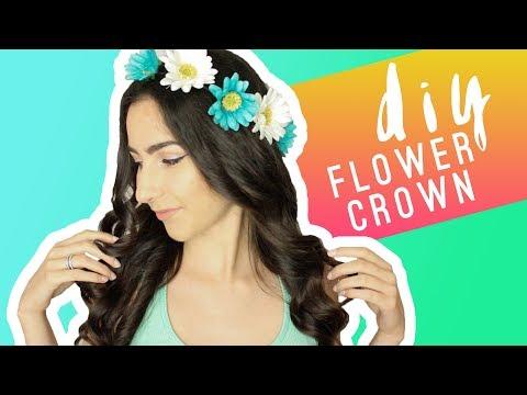 DIY EASY FLOWER CROWN HEADBAND | QUEENSHIRIN