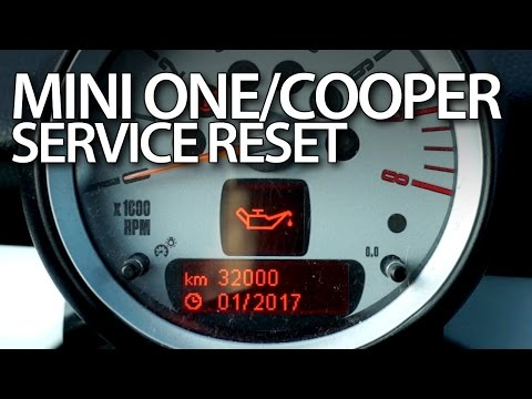 How to reset service reminder in Mini One / Mini Cooper MK1 (maintenance message hatch)