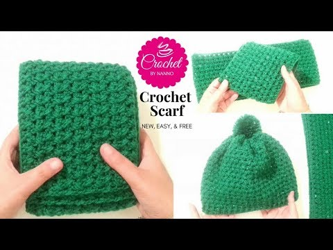 How to Crochet a Scarf for Men #1 Fast New Stitch ☕ The Crochet Shop Exclusive Free tutorials