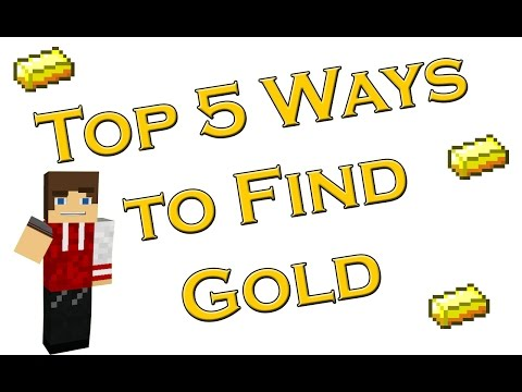 Top 5 Ways to find Gold in Minecraft