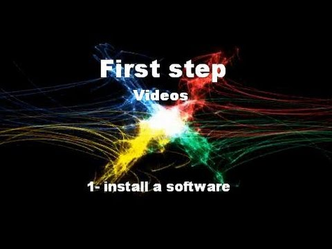 FIRST STEP  install software