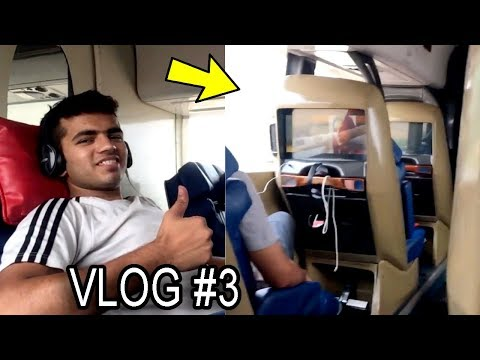 (VLOG #3) Travelling In An Ultra Luxury Bus | Indo-Canadian Business Class | Punjab To Delhi