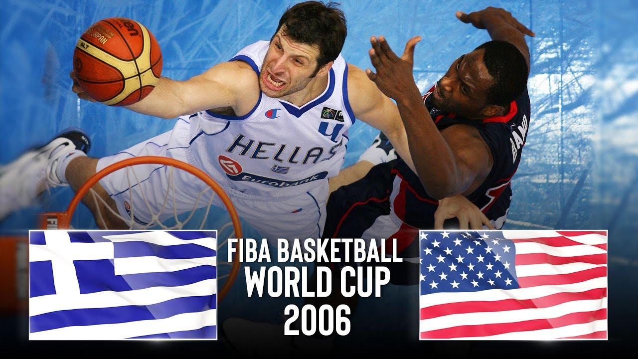 Greece 🇬🇷 v USA 🇺🇸 - Classic Full Games   FIBA Basketball World Cup 2006