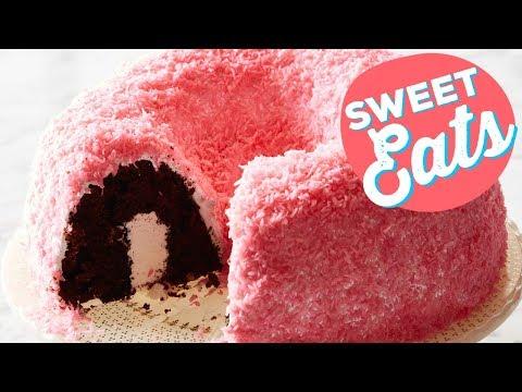 Snowy Pink Coconut Bundt Cake | Food Network