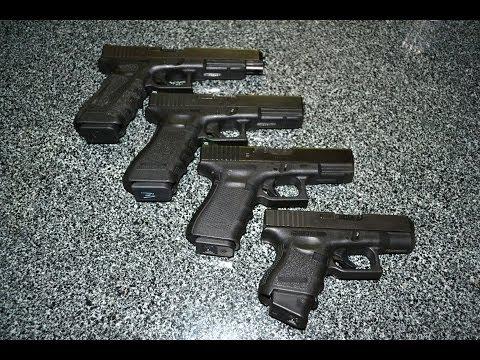 Four Glock Pistols in 9mm