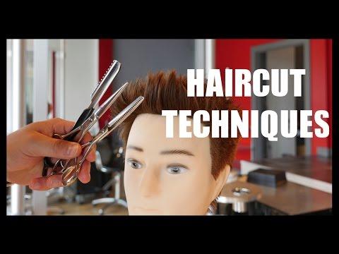 Haircut Techniques - How to Thin Hair - Razor Hair - Texturize Hair - TheSalonGuy