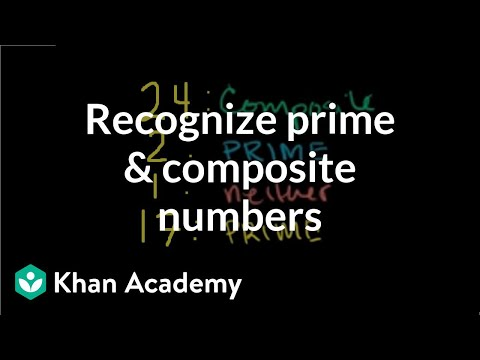 Recognizing prime and composite numbers | Factors and multiples | Pre-Algebra | Khan Academy