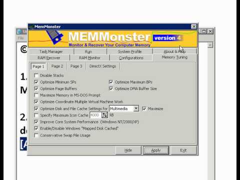 Increase Your RAM by 200 MB : MEMMonster